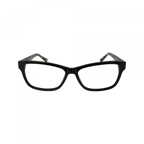 L616 Black Glasses - Front View