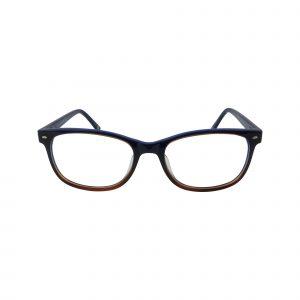 L607 Blue Glasses - Front View
