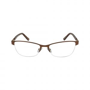 L615 Brown Glasses - Front View