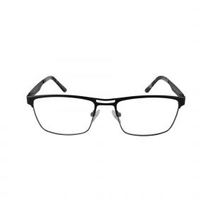 665 Black Glasses - Front View