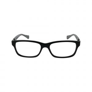6052 Black Glasses - Front View