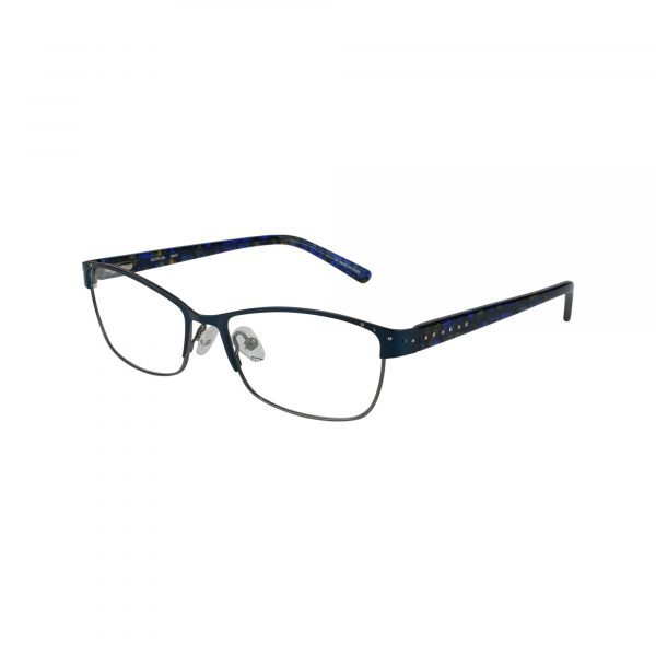 Arcadia Blue Glasses - Side View