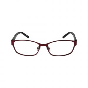 Wood Rose Red Glasses - Front View