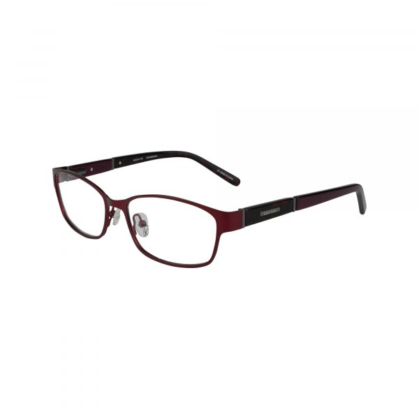 Wood Rose Red Glasses - Side View