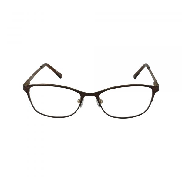 Petites Parodia Brown Glasses - Front View