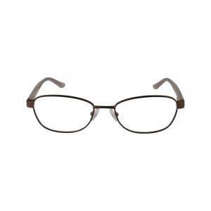 Petites Cajun Brown Glasses - Front View