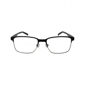 Lennox Black Glasses - Front View
