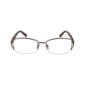 L118 Brown Glasses - Front View