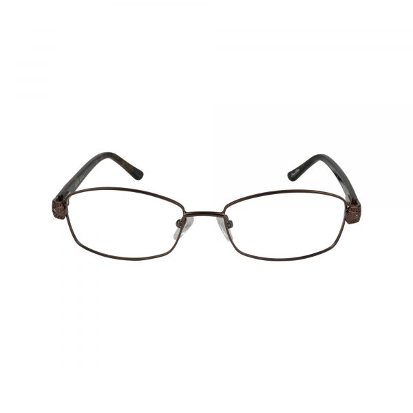 L132 Brown Glasses - Front View