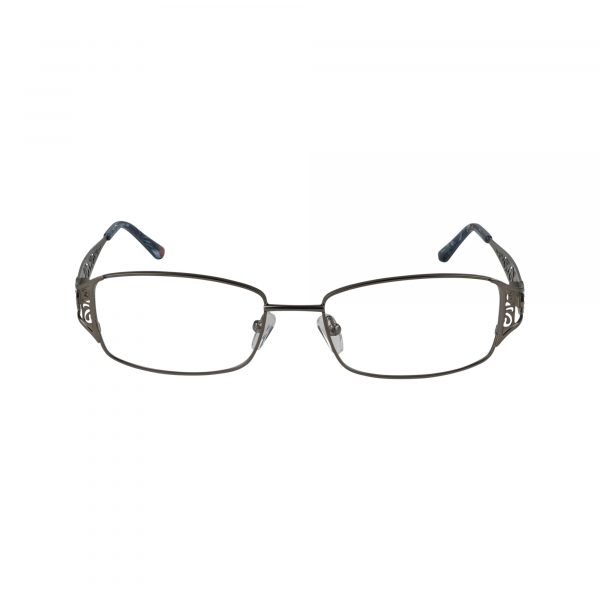 L110 Gunmetal Glasses - Front View