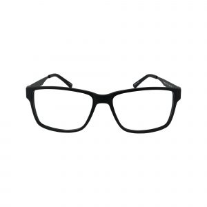 412 Black Glasses - Front View