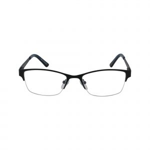 830 Black Glasses - Front View