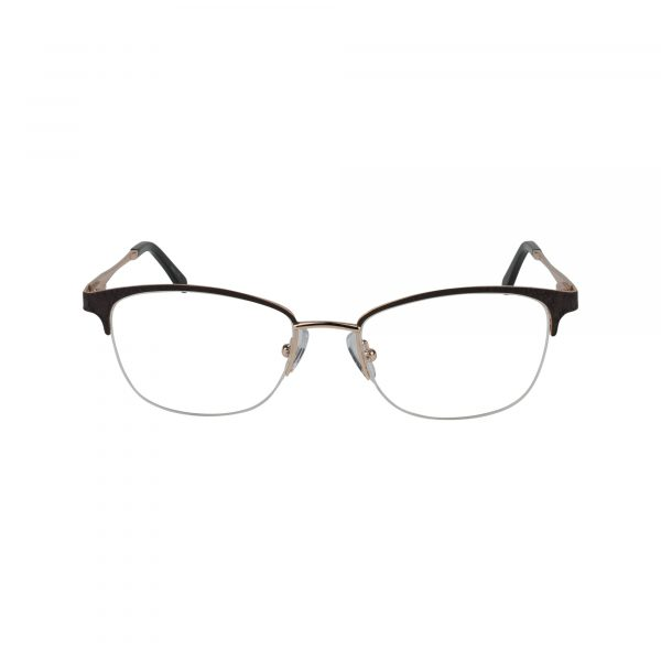 L856 Brown Glasses - Front View
