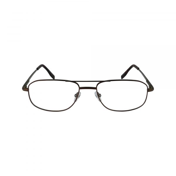 104 Brown Glasses - Front View