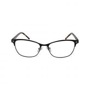 D120 Black Glasses - Front View