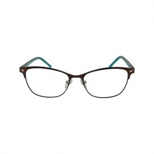 D120 Brown Glasses - Front View
