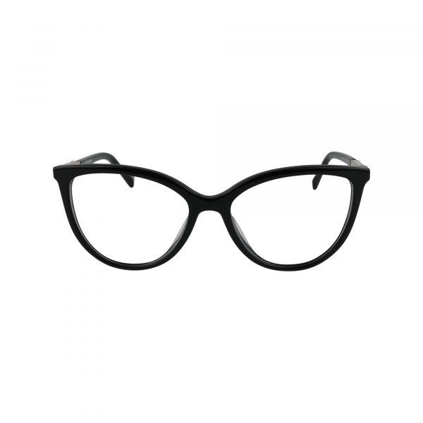D226 Black Glasses - Front View