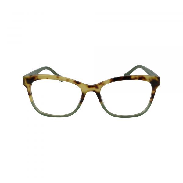 D218 Green Glasses - Front View