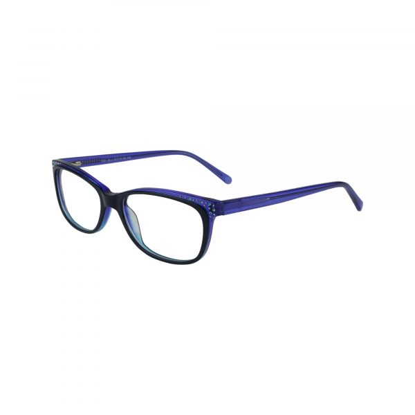 P291 Blue Glasses - Side View