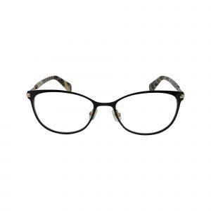 Jabria Black Glasses - Front View
