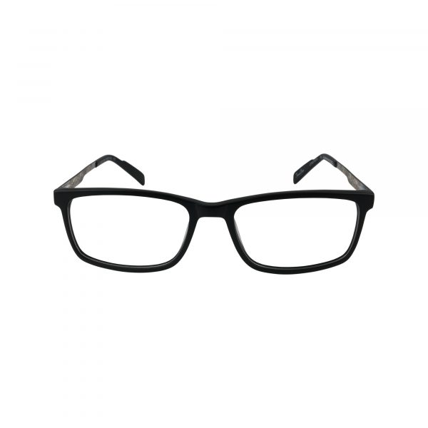 R727 Black Glasses - Front View