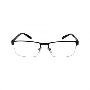 R719 Black Glasses - Front View