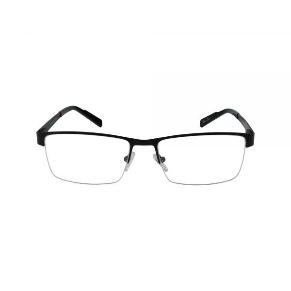 R719 Black Glasses - Front View