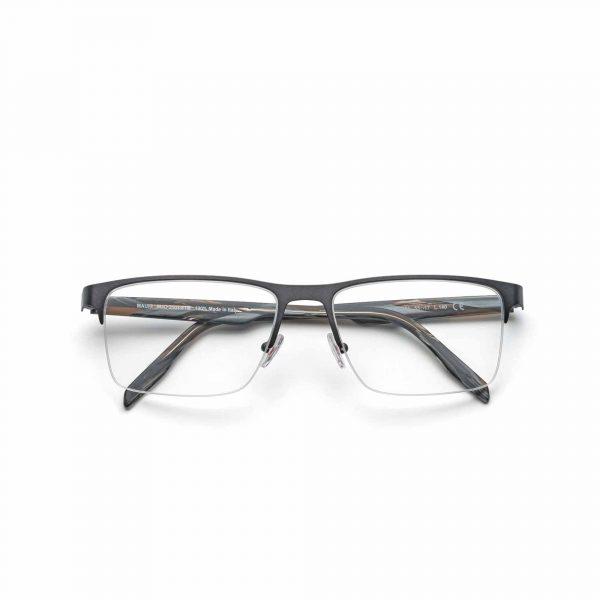 Gunmetal Grey Maui Jim Glasses Wood Grain - Front View