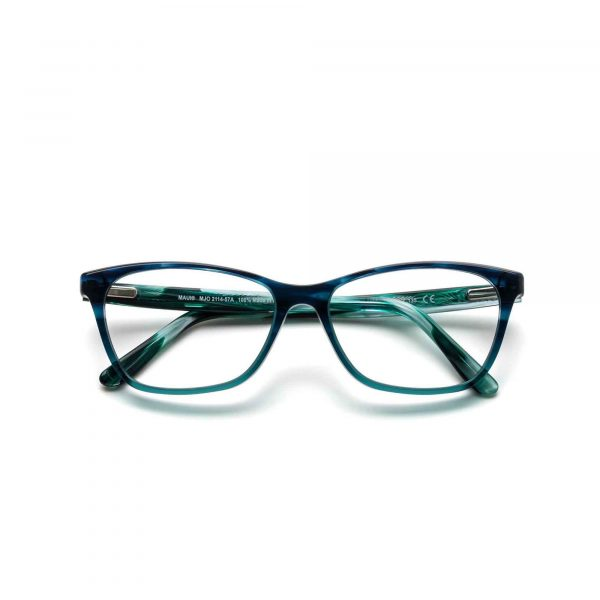Blue Tortoise Shell Maui Jim Glasses - Front View
