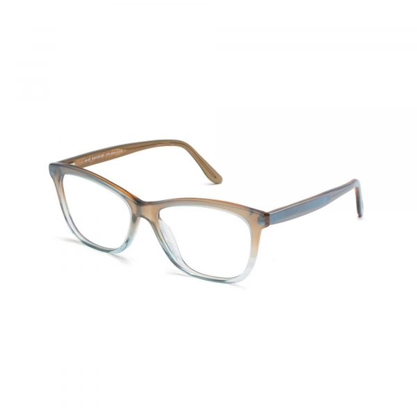 Tan and Blue Ombre Maui Jim Glasses - Side View