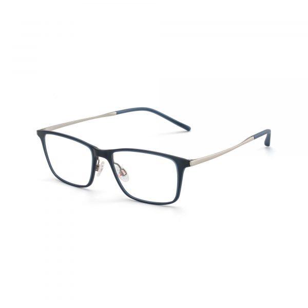 Black and Blue Metal Maui Jim Glasses - Side View