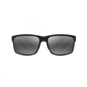 Pokowai Arch Maui Jim Sunglasses Black - Front View