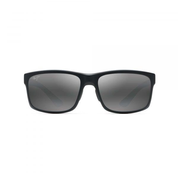 Pokowai Arch Maui Jim Sunglasses Black - Front View