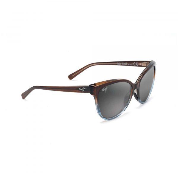 Olu Olu Maui Jim Sunglasses Brown and Blue - Side View