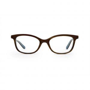 Maui Jim Brown Eyeglasses Blue Temples - Front View