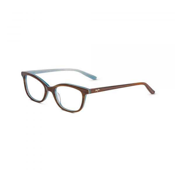 Brown and Blue Maui Jim Glasses - Side View