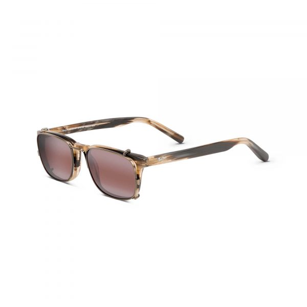 Maui Jim Clip On Textured Temple Sunglasses - Side View