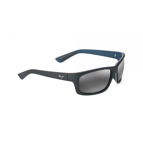 Kanaio Coast Maui Jim Sunglasses Black and Blue - Side View