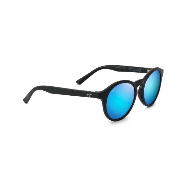 Pineapple Maui Jim Sunglasses Black - Side View