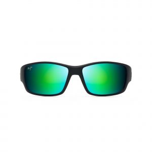 Local Kine Maui Jim Sunglasses Green Lenses - Front View