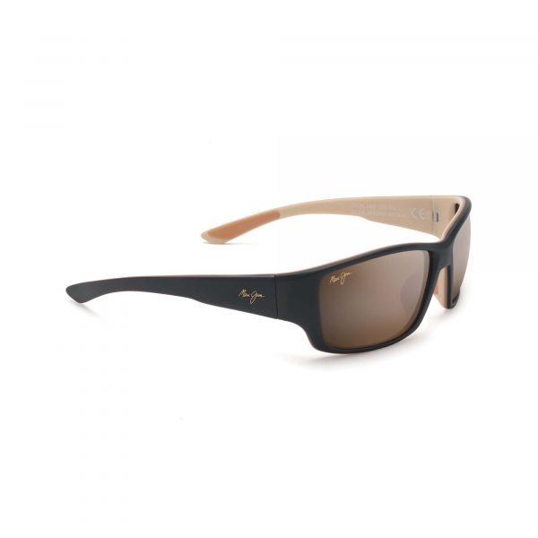Local Kine Maui Jim Sunglasses Black and Tan - Side View
