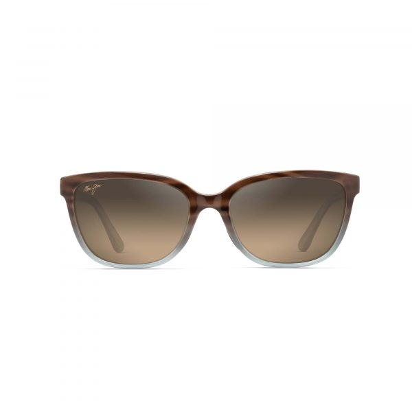 Honi Maui Jim Sunglasses Blue and Brown Ombre - Front View
