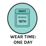 contact lens wear time- daily