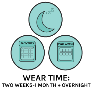 contact lens wear time- overnight