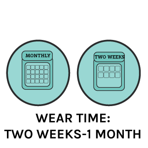 wear time- two weeks to a month