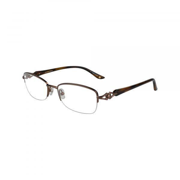Bulova Brown Avignon - Eyeglasses - Left