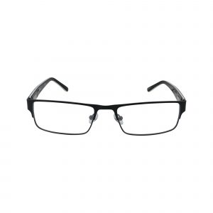 Claiborne Matte Black Grey 204 - Eyeglasses - Front