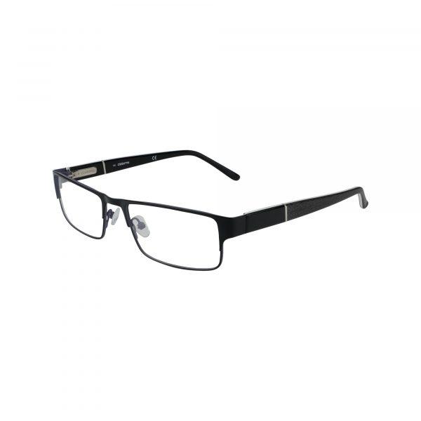 Claiborne Matte Black Grey 204 - Eyeglasses - Left