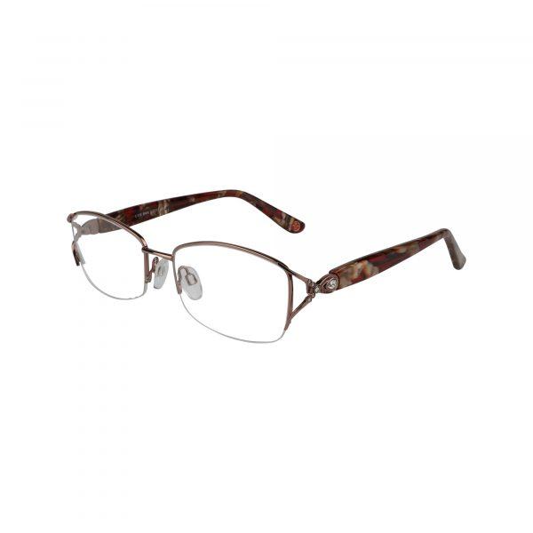 Fleur De Lis Brown L118 - Eyeglasses - Left