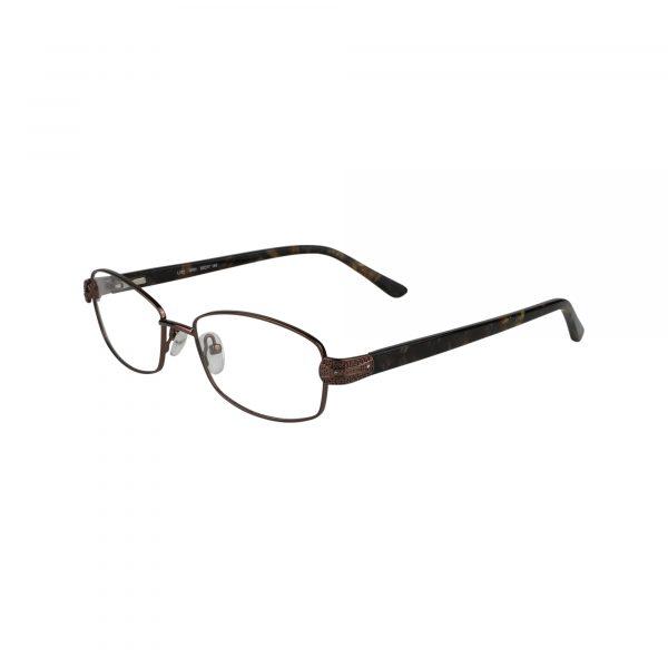 Fleur De Lis Brown L132 - Eyeglasses - Left